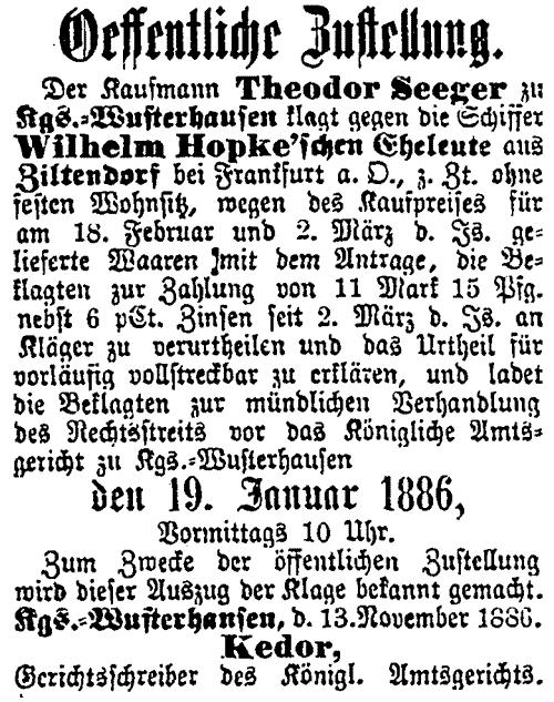 Teltower Kreisblatt_1885_11_19