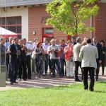 Beifall der geladenen Gäste nach den Ansprachen