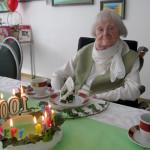 Margarete Schenk an ihrem 100. Geburtstag