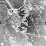 Luftbildaufnahme von Ziltendorf im Frühjahr 1945
