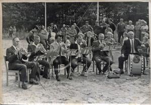 Die Ziltendorfer Blaskapelle in der Besetzung: Kurt Lanzke, Hans Waschlewski, Günter Laube, Arno Schmäschke, Paul Krüger und Herr Nickel.