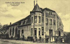 """Gasthof Zum Grünen Baum"" um 1930"