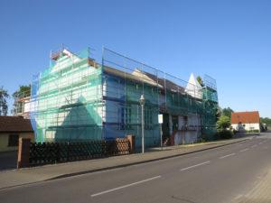 Sanierung des Gasthofs im Sommer 2019